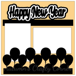 Happy New Year - Single Scrapbook Page Kit