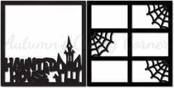 Haunted House - Scrapbook Page Overlay Set - Choose a Color