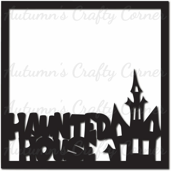 Haunted House - Scrapbook Page Overlay Die Cut - Choose a Color