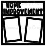 Home Improvement - 2 Vertical Frames - Scrapbook Page Overlay Die Cut - Choose a Color