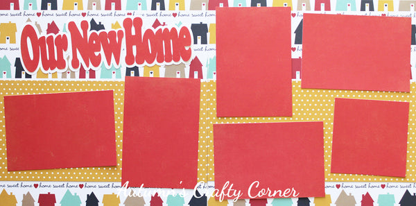 Our New Home - Scrapbook Page Kit