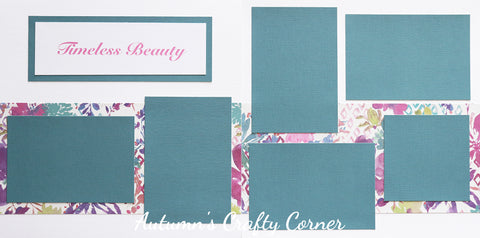 Timeless Beauty - Premade Scrapbook Double (2) Page 12x12 Layout - CLEARANCE