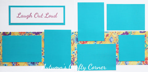 Laugh Out Loud - Premade Scrapbook Double (2) Page 12x12 Layout - CLEARANCE