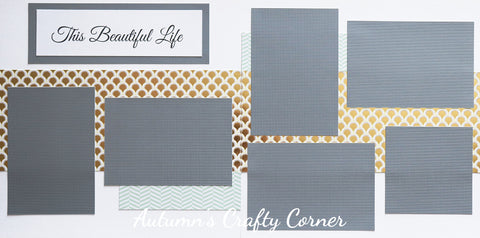 This Beautiful Life - Premade Scrapbook Double (2) Page 12x12 Layout - CLEARANCE