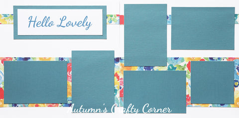 Hello Lovely - Premade Scrapbook Double (2) Page 12x12 Layout - CLEARANCE
