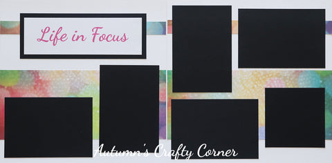 Life in Focus - Premade Scrapbook Double (2) Page 12x12 Layout - CLEARANCE