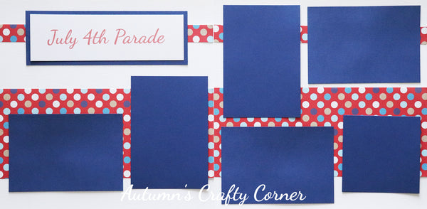 July 4th Parade - Scrapbook Page Kit