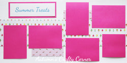Summer Treats - Scrapbook Page Kit - CLEARANCE