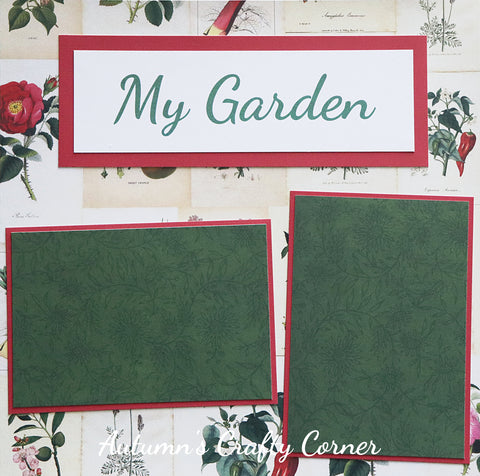 My Garden - Premade Scrapbook Page 12x12 Layout - CLEARANCE