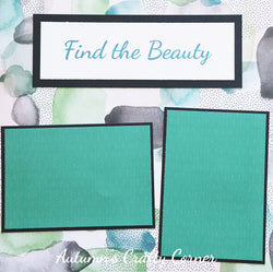 Find the Beauty - Premade Scrapbook Page 12x12 Layout