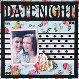 Date Night - Scrapbook Page Overlay Die Cut - Choose a Color