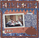 Thanksgiving - Turkey - Scrapbook Page Overlay Die Cut - Choose a Color