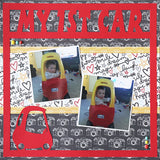 My 1st Car - Toddler - Scrapbook Page Overlay Die Cut - Choose a Color