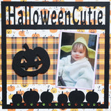 Halloween Cutie - Pumpkins - Scrapbook Page Overlay Die Cut - Choose a Color