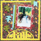 Fall - Half Circle - Scrapbook Page Overlay Die Cut - Choose a Color