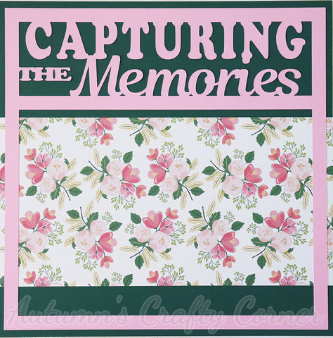 Capturing the Memories - Premade Scrapbook Page 12x12 Layout