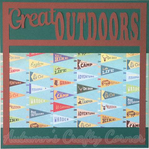 Great Outdoors - Premade Scrapbook Page 12x12 Layout