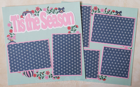 Tis the Season - Llamas - Premade Scrapbook Page Double 12x12 Layout