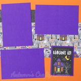 Halloween - Premade Scrapbook Page Double 12x12 Layout