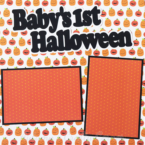 Baby's 1st Halloween - Premade Scrapbook Page 12x12 Layout