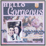Hello Gorgeous - Scrapbook Page Overlay Die Cut - Choose a Color