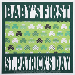 Baby's First St. Patrick's Day - Premade Scrapbook Page 12x12 Layout