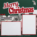 Merry Christmas - Premade Scrapbook Page 12x12 Double Layout