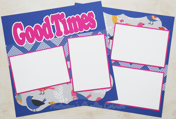 Good Times - Premade Scrapbook Page Double 12x12 Layout