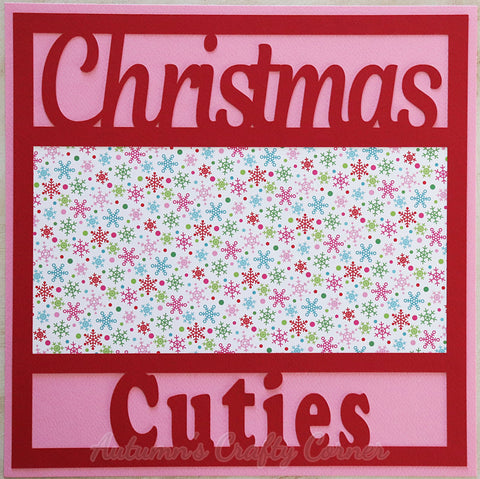 Christmas Cuties - Premade Scrapbook Page 12x12 Layout