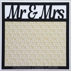 Mr & Mrs - Premade Scrapbook Page 12x12 Layout