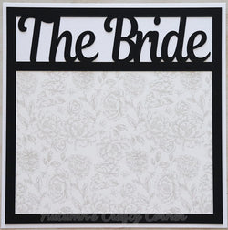 The Bride - Premade Scrapbook Page 12x12 Layout
