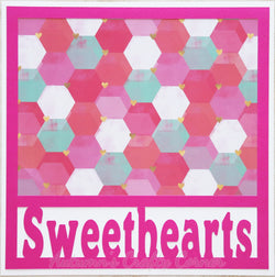 Sweethearts - Premade Scrapbook Page 12x12 Layout