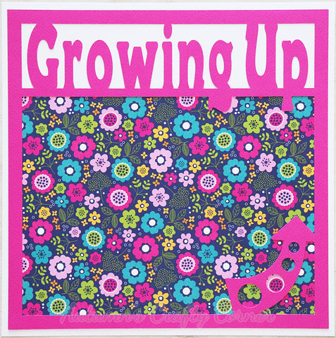 Growing Up - Premade Scrapbook Page 12x12 Layout