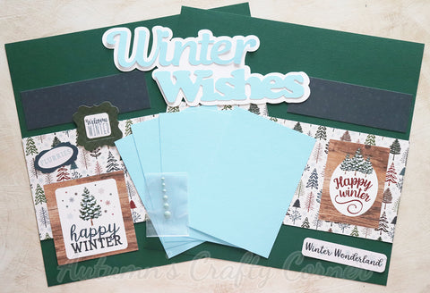 Winter Wishes - Scrapbook Page Kit