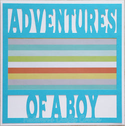 Adventures of a Boy - Premade Scrapbook Page 12x12 Layout