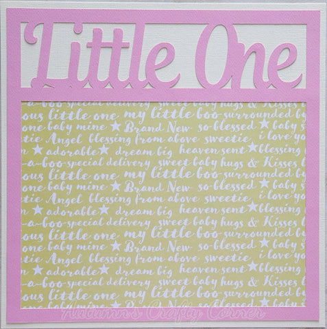 Little One - Premade Scrapbook Page 12x12 Layout