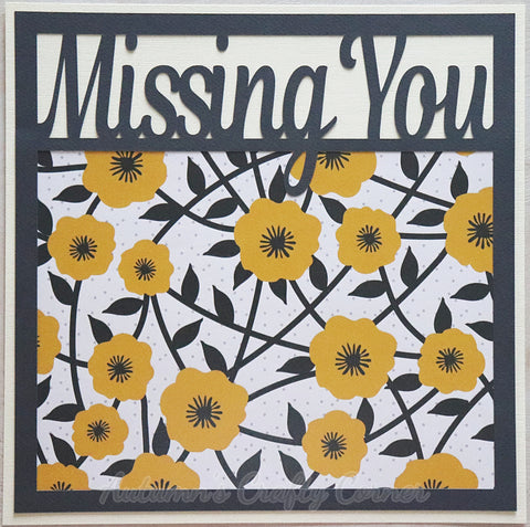 Missing You - Premade Scrapbook Page 12x12 Layout