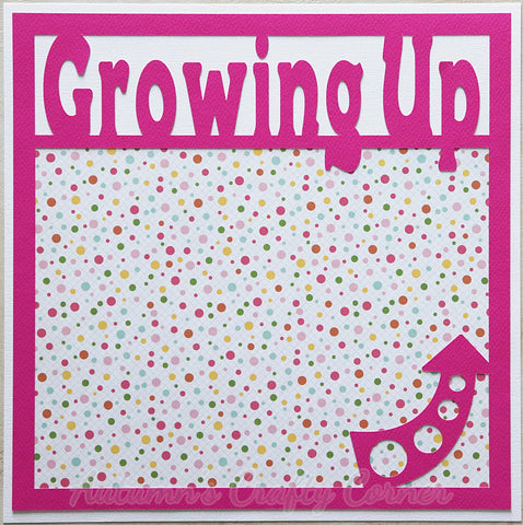 Growing Up - Girl - Premade Scrapbook Page 12x12 Layout