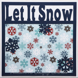 Let it Snow - Premade Scrapbook Page 12x12 Layout