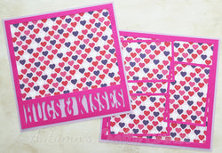 Hugs & Kisses - Scrapbook Page Kit