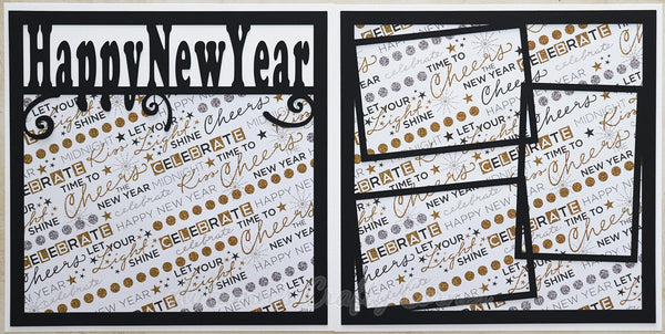 Happy New Year - Scrapbook Page Kit