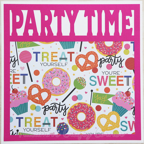 Party Time - Premade Scrapbook Page 12x12 Layout