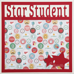 Star Student - Premade Scrapbook Page 12x12 Layout