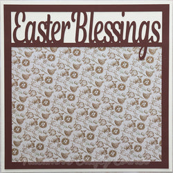 Easter Blessings - Premade Scrapbook Page 12x12 Layout