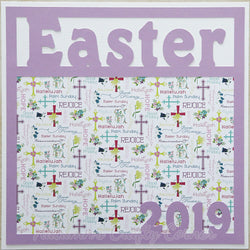 Easter 2019 - Premade Scrapbook Page 12x12 Layout