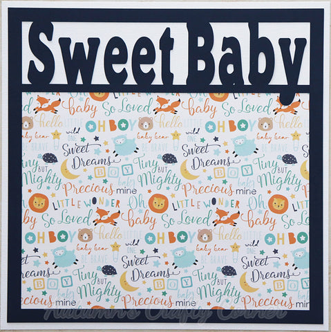Sweet Baby - Premade Scrapbook Page 12x12 Layout