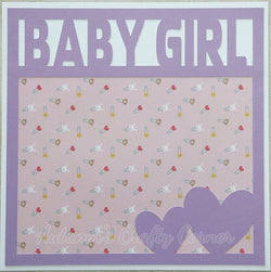 Baby Girl - Premade Scrapbook Page 12x12 Layout
