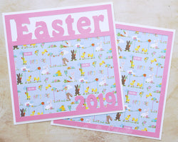 Easter 2019 - Premade Scrapbook Double (2) Page 12x12 Layout