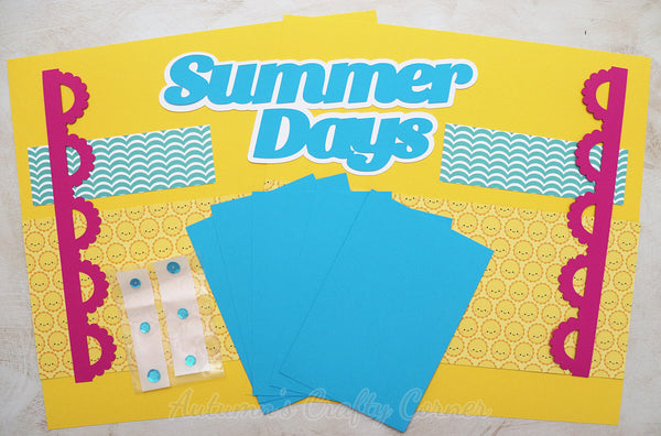 Summer Days - Scrapbook Page Kit