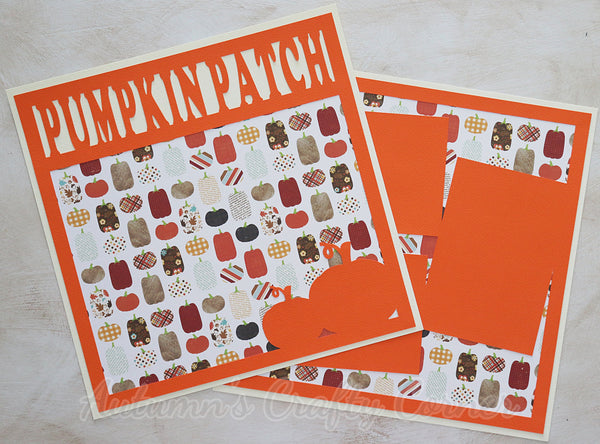 Pumpkin Patch  - Premade Scrapbook Double (2) Page 12x12 Layout